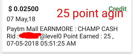 Earn more offer point proof