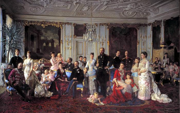 Laurits Tuxen - Christian IX of Denmark with family (1886)