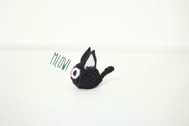 Cat amigurumi free pattern. Jiji from Kiki's delivery service studio ghibli
