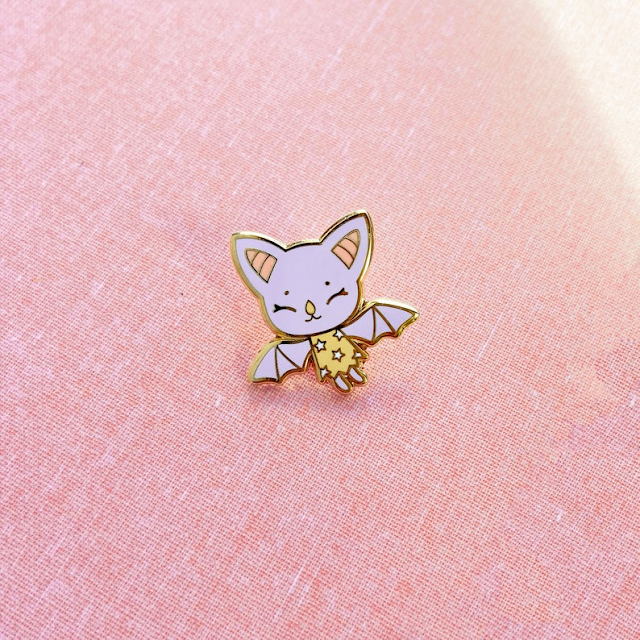 Tiny Purple Bat Pin