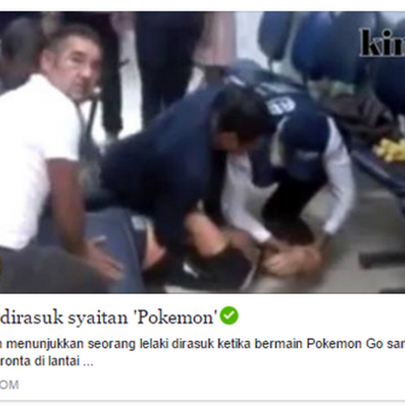 Lelaki dirasuk hantu ' Pokemon' !
