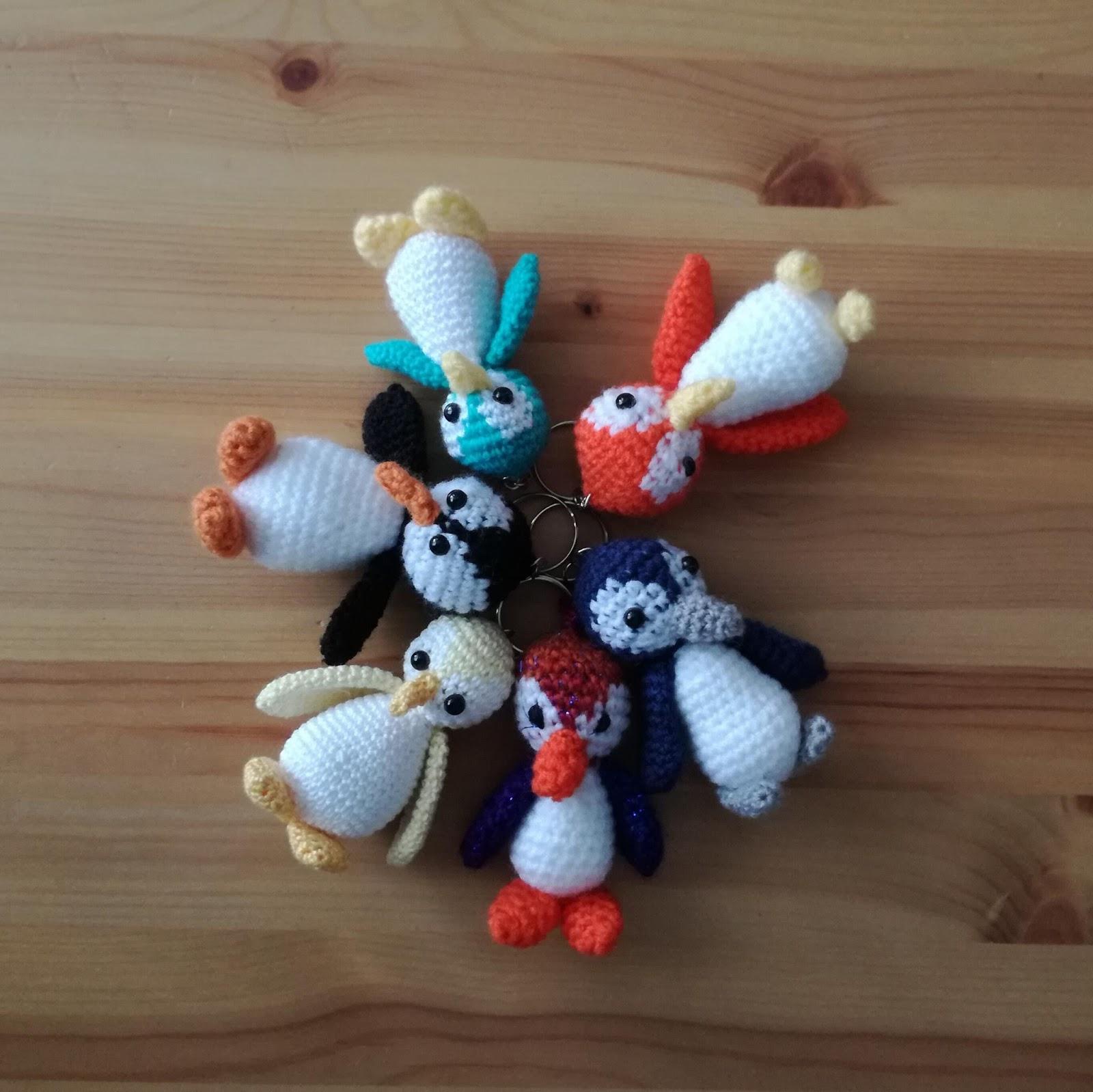 Haak En Brei Maar Door Pinguin Sleutelhangers