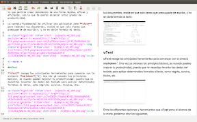 uText editor de texto markdown, presentación preliminar