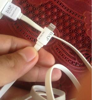 review pengalaman menggunakan kabel charger iphone 5 merk DAP original