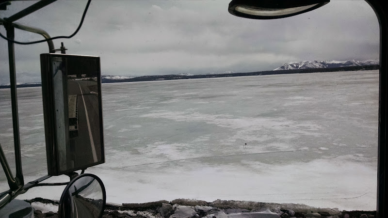 truckers scenery picture of frozen mountain lake