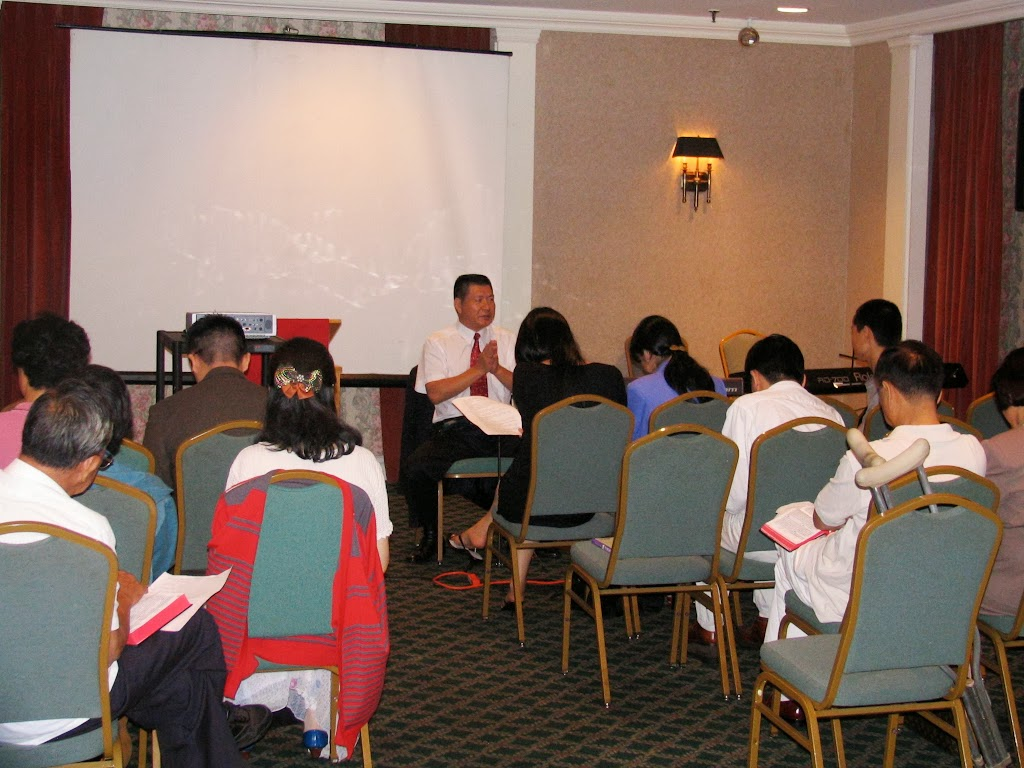 Pastor Pan teaching Sunday School. 2004-07 潘牧师教的主日学班