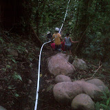 The supply line crossing a gorge