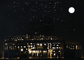 강은구, 12구역의 밤, 2011, 80x115x7cm, Steel, LED 프로그래밍, 우레탄코팅 1