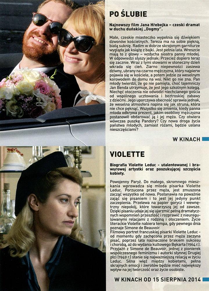 Ulotka filmu 'Po Ślubie (tył)'