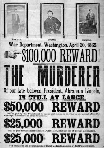 1865 War Dept. poster