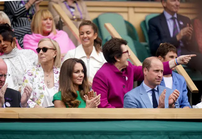 Prince William and Kate Middleton watch Wimbledon Women's Final