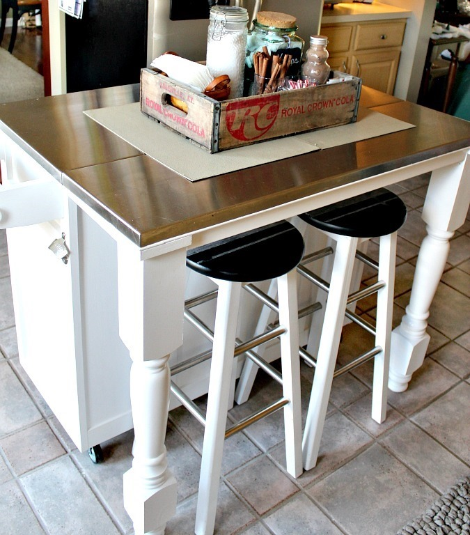 how we added legs to our kitchen island