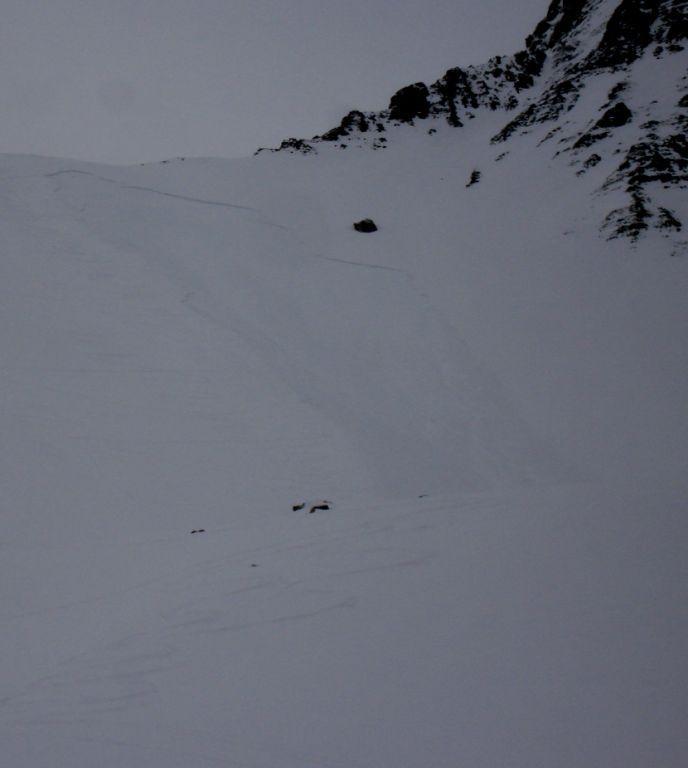 Avalanche Ubaye, secteur Montagne de la Blanche, Col de la Pierre - Photo 1 - © Degueurce Hugues