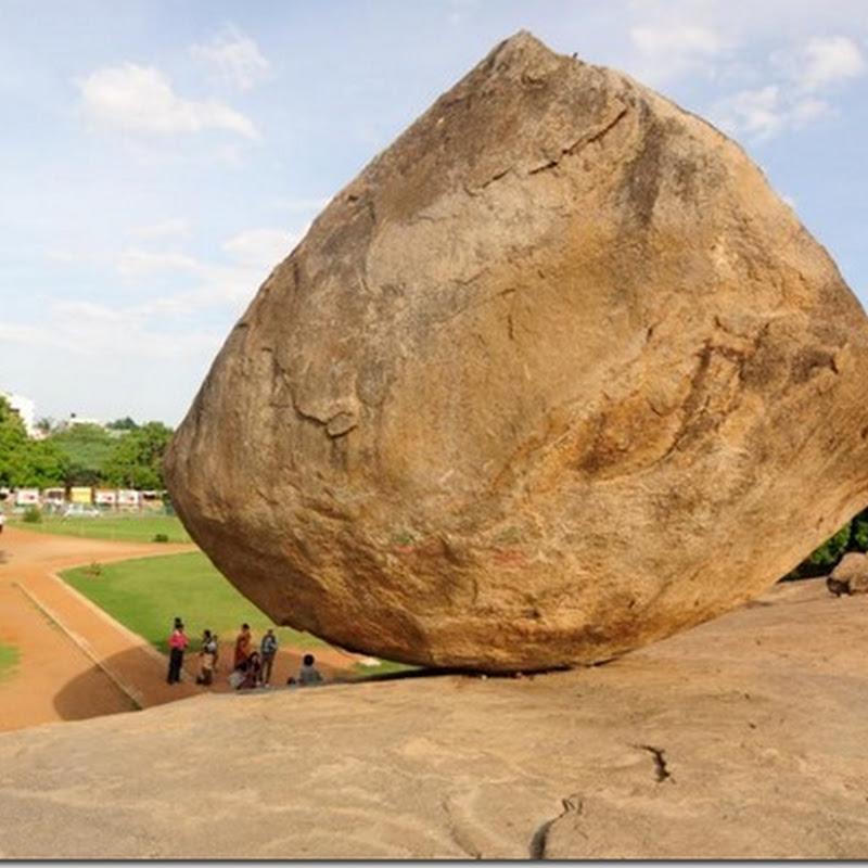 la misteriosa roca Bola de mantequilla de Krishna