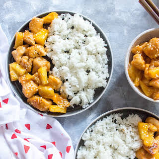 One Pan Spicy Pineapple Chicken Meal Prep.