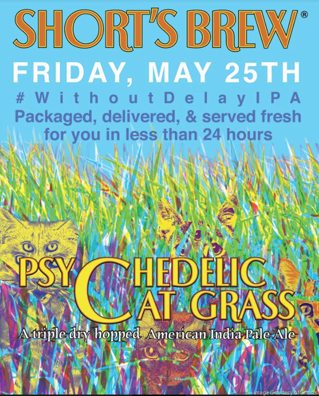 Short's Brewing Announces Release of Psychedelic Cat Grass, Without Delay IPA