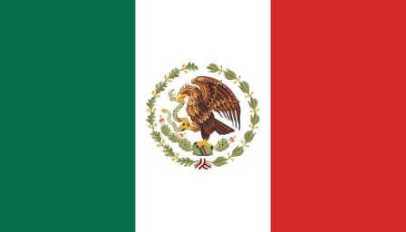 Bandera de México 1934 a 1969 (Historia de la bandera de México)