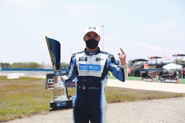 GIANCARLO VECCHI GANA LA PRIMER BANDERA A CUADROS  DE LA TEMPORADA 2021 DE NASCAR