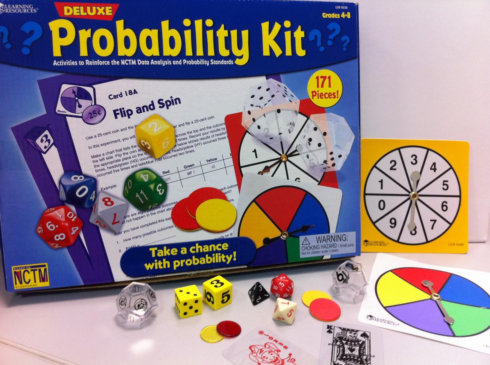 Msl Mathematics Resources Deluxe Probability Kit