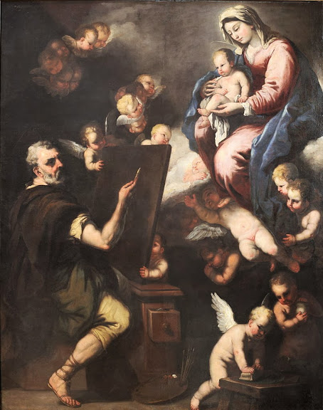Luca Giordano - Saint Lucas painting the Virgin