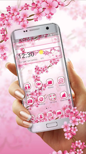 Cherry Blossom Launcher Theme 1.1.2 screenshots 2
