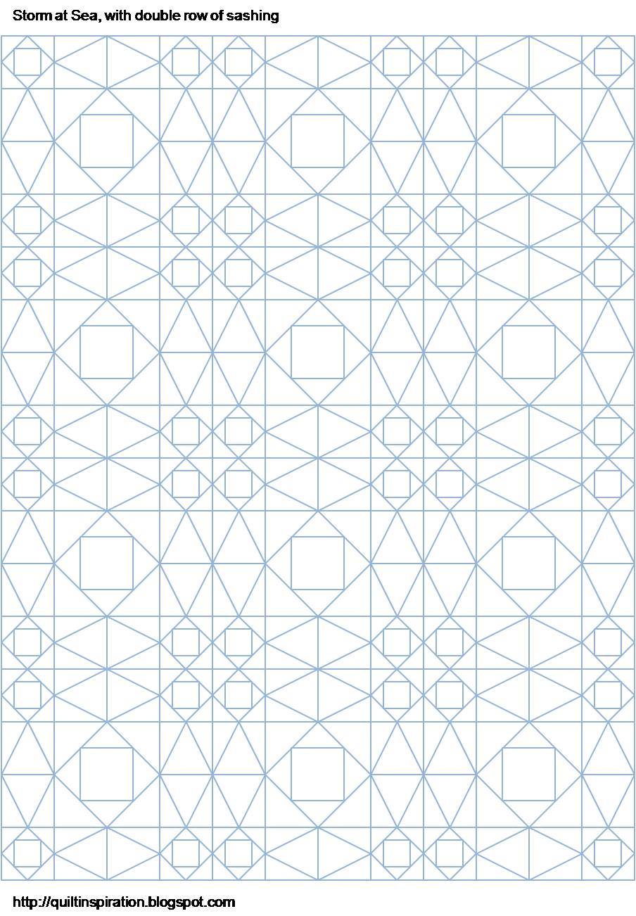 Grid Template For Quilting : Quilt Inspiration: Storm-at-Sea Quilts, free block diagrams and patterns