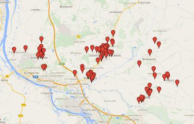 Karte Radunfälle Landkreis Osterholz 2014