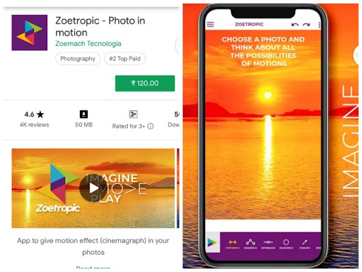 Zoetropic Android app, Zoetropic mod apm