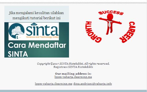 Mengirim Mailchimp Registrasi SINTA | timur is the winner