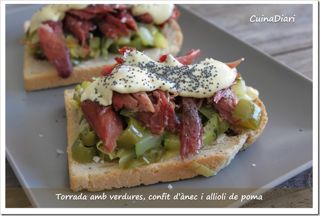 5-torrada confit verdures i allioli poma-cuinadiari-ppal