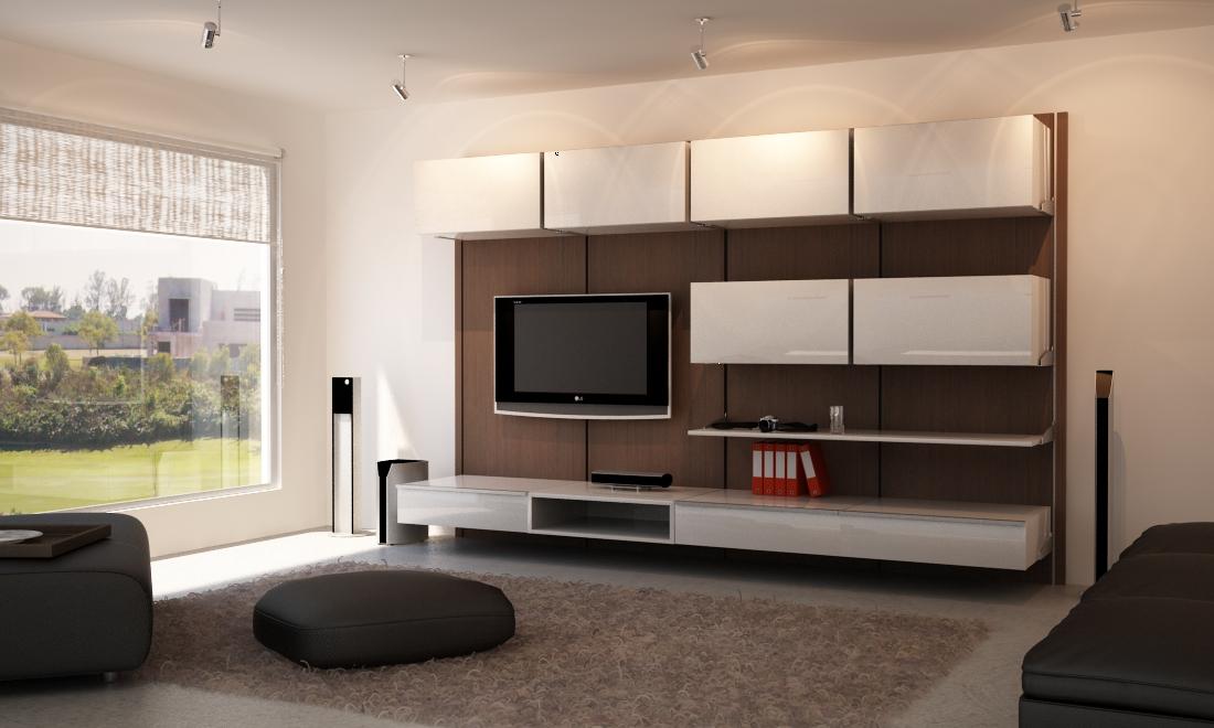 Muebles para tv minimalistas orbis home for Muebles modulares madera