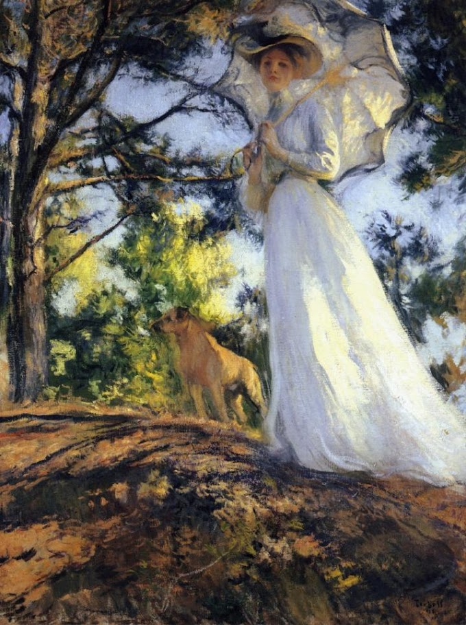 Edmund Charles Tarbell - On Bos'n's Hill