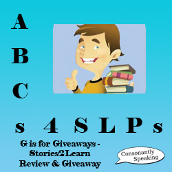 ABCs 4 SLPs: G is for Giveaways - Stories2Learn Review and Giveaway image