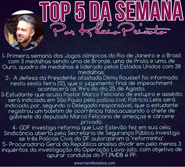 Top 5 , Blog do Hamilton Silva