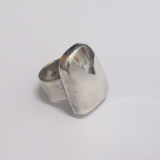 Sterling Silver Vintage Chunky Ring