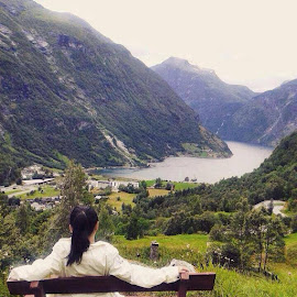 Geiranger Norway by Flongflong Egagamao - Landscapes Mountains & Hills