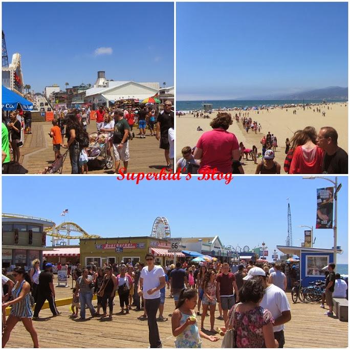 Santa Monica Pier碼頭上人山人海