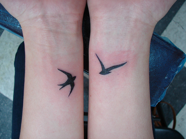 Bird Tattoo on Hand Idea