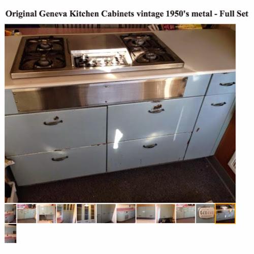 Cherry picked 1950s geneva metal kitchen cabinets full set for 50s metal kitchen cabinets