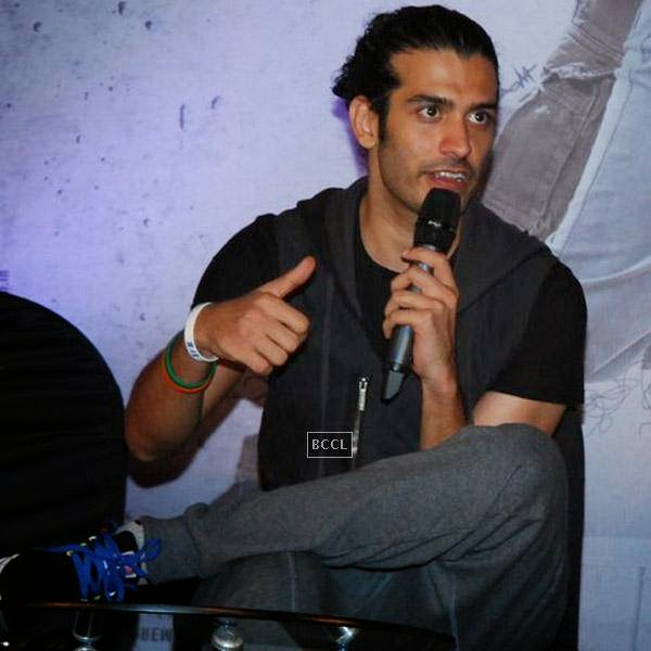 Saahil Prem speaks during the trailer launch of Bollywood movie Mad About Dance, held at Fun Republic, on July 16, 2014.(Pic: Viral Bhayani)