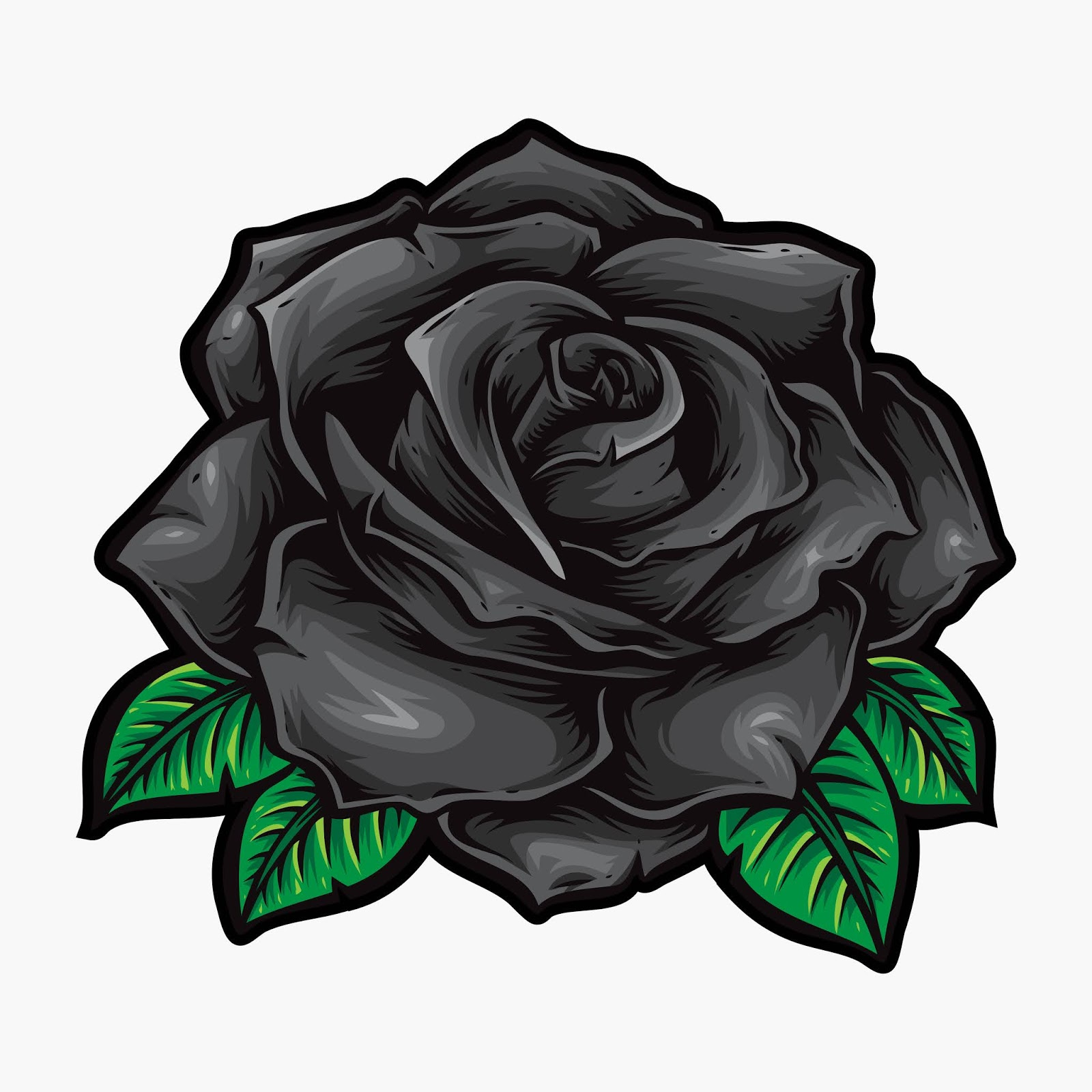 Black Roses Vector Flower Logo Free Download Vector CDR, AI, EPS and PNG Formats