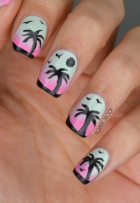 LACC Palm Tree Nail Art (1)