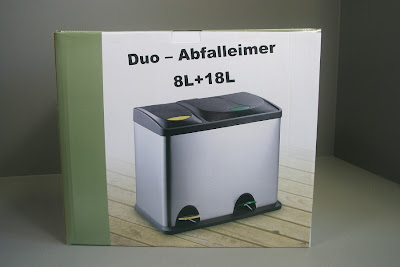abfalleimer abfallbeh lter sortier duo m lleimer 8 18 liter ebay. Black Bedroom Furniture Sets. Home Design Ideas