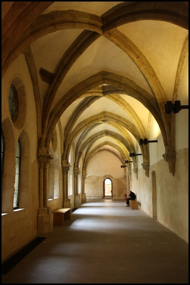 Gothic vaulted ceilings in the Cloister of St Agnes of Bohemia