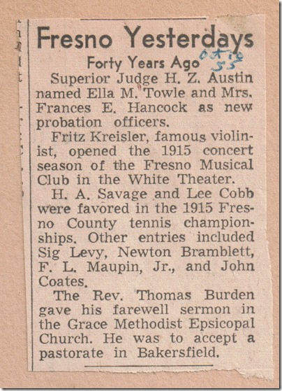 Forty Years Ago - Tennis Championships 10_18_1955