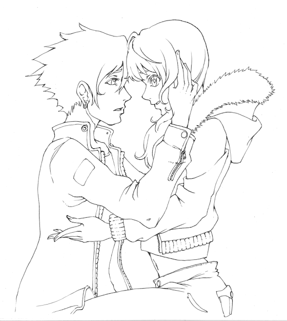 Couple By Baranotnshi On Deviantart Throughout Anime Couples Coloring Pages