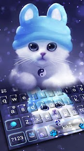 Kitty Hat Keyboard Theme - náhled
