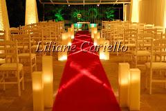 Fotos de decoração de casamento de Casamento Daniele e Paulo no Clube Marapendi da decoradora e cerimonialista de casamento Liliane Cariello que atua no Rio de Janeiro e Niterói, RJ.