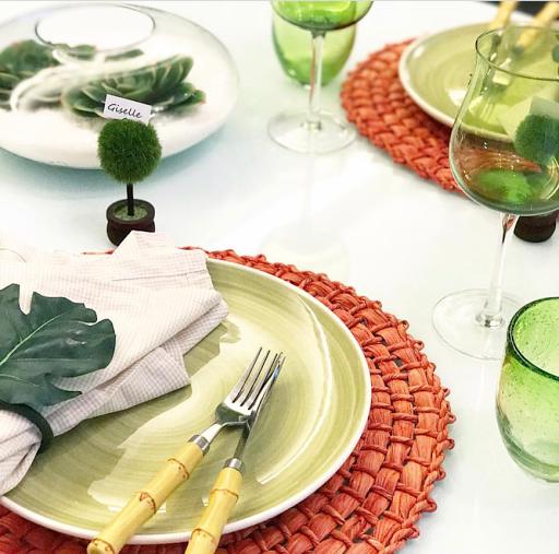 mesa posta verde laranja lardocecasa