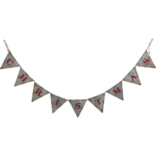 galvanized metal bunting